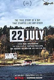 locandina del film 22 JULY