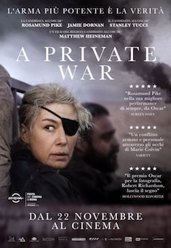 locandina del film A PRIVATE WAR