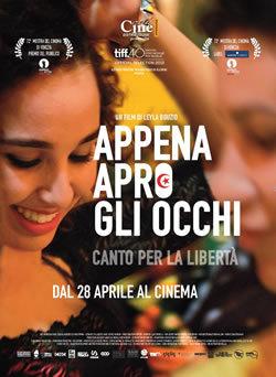 locandina del film APPENA APRO GLI OCCHI - CANTO PER LA LIBERTA'
