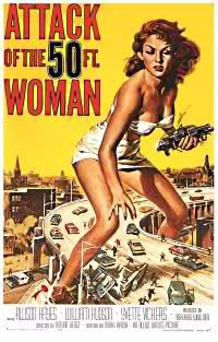 locandina del film ATTACK OF THE 50 FOOT WOMAN