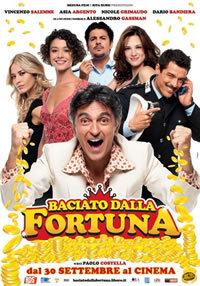 locandina del film BACIATO DALLA FORTUNA