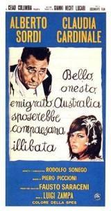 locandina del film BELLO, ONESTO, EMIGRATO AUSTRALIA SPOSEREBBE COMPAESANA ILLIBATA