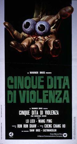 locandina del film CINQUE DITA DI VIOLENZA