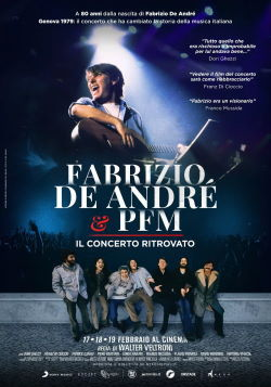 locandina del film FABRIZIO DE ANDRE' & PFM - IL CONCERTO RITROVATO