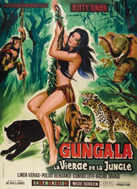 locandina del film GUNGALA LA VERGINE DELLA GIUNGLA