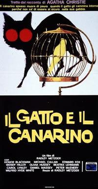 locandina del film IL GATTO E IL CANARINO