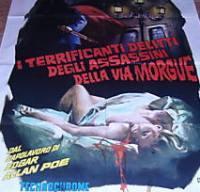 locandina del film I TERRIFICANTI DELITTI DEGLI ASSASSINI DELLA VIA MORGUE