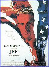 locandina del film JFK - UN CASO ANCORA APERTO