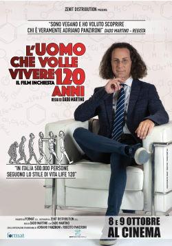 locandina del film L'UOMO CHE VOLLE VIVERE 120 ANNI
