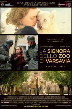 locandina del film LA SIGNORA DELLO ZOO DI VARSAVIA