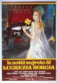 locandina del film LE NOTTI SEGRETE DI LUCREZIA BORGIA