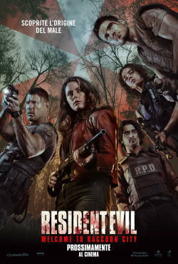 locandina del film RESIDENT EVIL: WELCOME TO RACOON CITY
