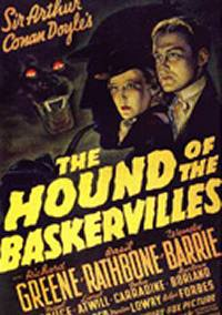 locandina del film SHERLOCK HOLMES E IL CANE  DEI BASKERVILLE