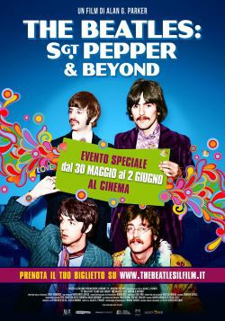 locandina del film THE BEATLES: SGT. PEPPER & BEYOND
