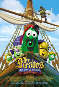 locandina del film THE PIRATES WHO DON'T DO ANYTHING: A VEGGIETALES MOVIE