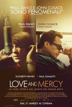 locandina del film LOVE AND MERCY - LA VERA STORIA DEL GENIO DEI BEACH BOYS
