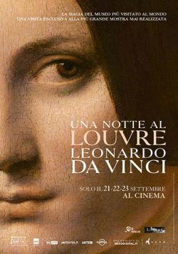 locandina del film UNA NOTTE AL LOUVRE: LEONARDO DA VINCI
