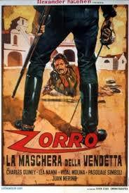 locandina del film ZORRO, LA MASCHERA DELLA VENDETTA